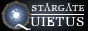 The words Stargate Quietus, where a Stargate is the Q